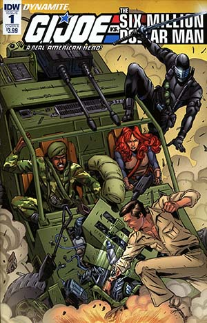 GI Joe A Real American Hero vs Six Million Dollar Man #1 Cover B Variant SL Gallant Cover