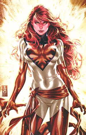 Phoenix Resurrection Return Of (Adult) Jean Grey #1 Cover P DF Comic Sketch Art Exclusive Mark Brooks Red Costume Virgin Variant Cover