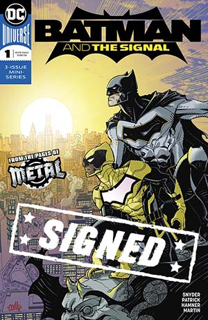 Batman And The Signal #1 Cover E Regular Cully Hamner Cover Signed By Cully Hamner (Dark Nights Metal Tie-In)(Limit 1 Per Customer)