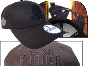 Midtown Comics Exclusive Black Panther Logo Black 940 Velcro Strap Cap