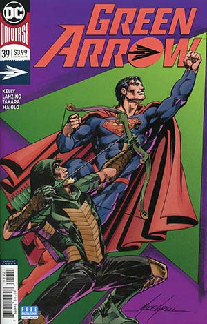 Green Arrow Vol 7 #39 Cover B Variant Mike Grell Cover