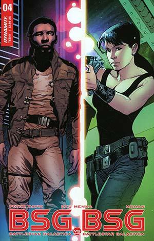 Battlestar Galactica vs Battlestar Galactica #4 Cover D Variant Roberto Castro Boomer Split Cover