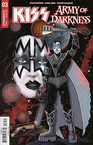KISS Army Of Darkness #3 Cover C Variant Ken Haeser Spaceman Ash Cover