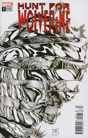 Hunt For Wolverine #1 Cover G Incentive Steve McNiven Sketch Cover