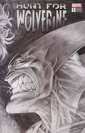 Hunt For Wolverine #1 Cover I Incentive Adam Kubert Remastered Wraparound Sketch Variant Cover