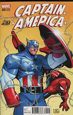 Captain America Vol 8 #695 Cover J Exclusive ACE Universe Billy Martin Homage Cover