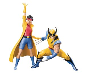 X-Men 92 Wolverine & Jubilee 2-Pack ARTFX Plus Statue
