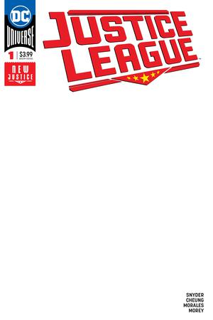Justice League Vol 4 #1 Cover D Variant Blank Cover