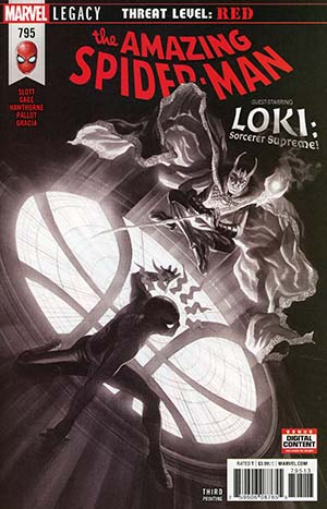 Amazing Spider-Man Vol 4 #795 Cover D 3rd Ptg Variant Alex Ross Black & White Cover