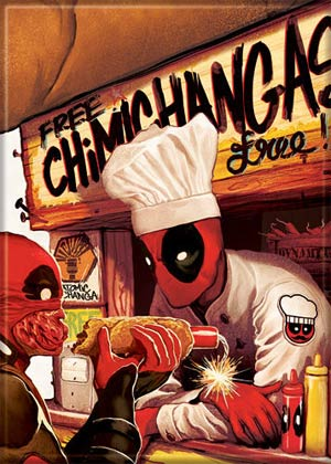 Marvel Comics 2.5x3.5-inch Magnet - Deadpool Chimichanga Stand (72849MV)