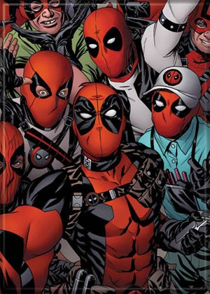 Marvel Comics 2.5x3.5-inch Magnet - Deadpool And Fans (72850MV)