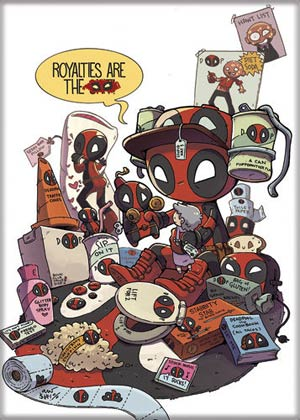 Marvel Comics 2.5x3.5-inch Magnet - Deadpool Royalties Are (72851MV)