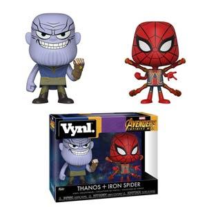 Vynl. Avengers Infinity War Thanos & Iron Spider 2-Pack Vinyl Figure