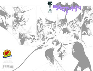 Batman Vol 3 #50 Cover I DF Exclusive Jae Lee Black And White Variant Cover