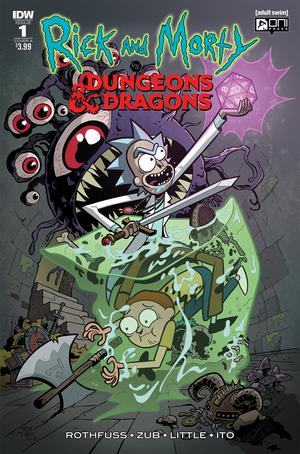 Rick And Morty vs Dungeons & Dragons #1 Cover A Regular Troy Little Cover