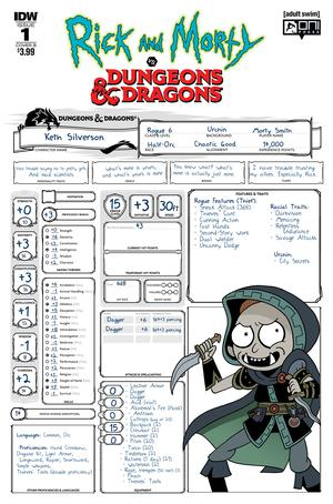 Rick And Morty vs Dungeons & Dragons #1 Cover B Variant Troy Little Cover