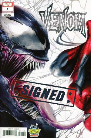 Venom Vol 4 #1  Midtown Exclusive Francesco Mattina & Will Sliney Connecting Variant Cover Signed By