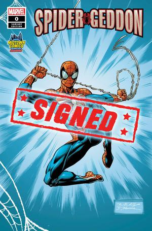 Spider-Geddon #0  Midtown Exclusive Cover C Mark Bagley PS4 Costume Variant Cover Signed By Mark Bag