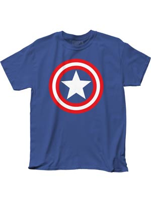 Captain America Shield On Royal Adult Royal Mens T-Shirt XX-Large