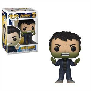 POP Marvel 419 Avengers Infinity War Bruce Banner With Hulk Head Vinyl Bobble Head