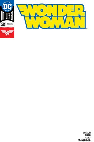 Wonder Woman Vol 5 #58 Cover C Variant Blank Cover