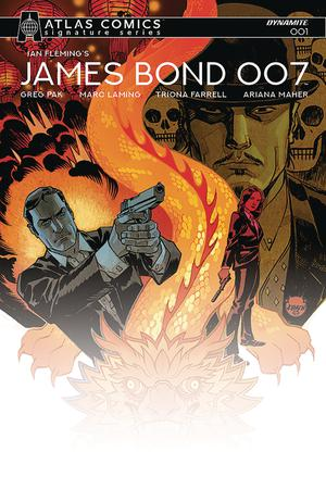 James Bond 007 #1 Cover J Atlas Comics Signature Series Signed By Greg Pak