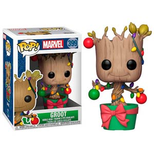 POP Marvel Holiday 399 Groot With Lights And Ornaments Vinyl Bobble Head