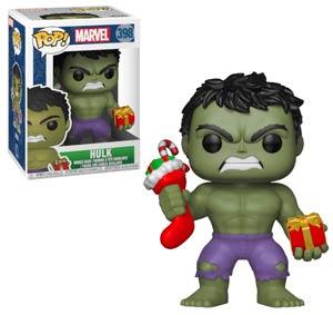 POP Marvel Holiday 398 Hulk With Stocking And Plush Vinyl Bobble Head
