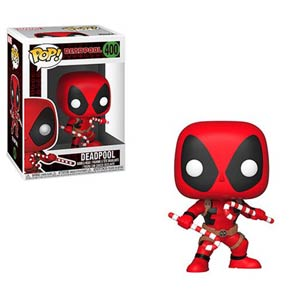 POP Marvel Holiday 400 Deadpool With Candy Canes Vinyl Bobble Head
