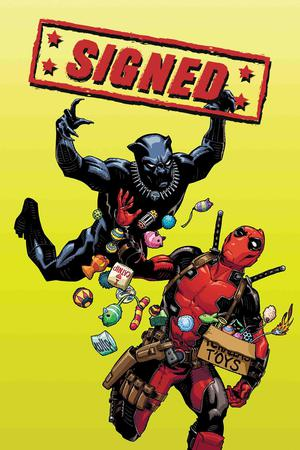 Black Panther vs Deadpool #1 Cover F Variant Cully Hamner Cover Signed By Ricardo Lopez Ortiz