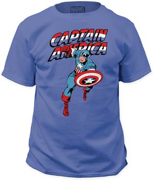 Captain America Red White And Blue Iris Mens T-Shirt Small