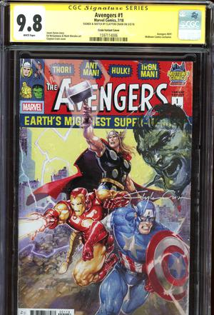 Avengers Vol 7 #1  Midtown Exclusive Clayton Crain Variant Cover Signed And Hulk Sketch By Clayton Crain CGC 9.8