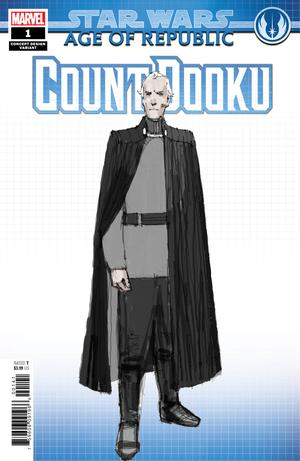 Star Wars Age Of Republic Count Dooku #1 Cover B Variant Concept Design Cover