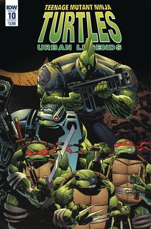 Teenage Mutant Ninja Turtles Urban Legends #10 Cover B Variant Frank Fosco & Erik Larsen Cover