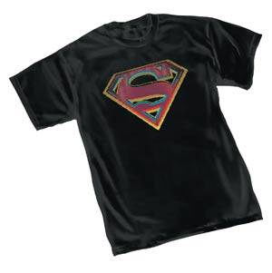 Superman Stress Symbol T-Shirt Large