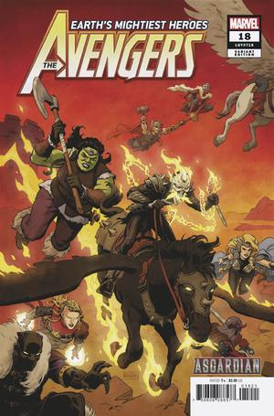 Avengers Vol 7 #18 Cover B Variant Paolo Rivera Asgardian Cover (War Of The Realms Tie-In)