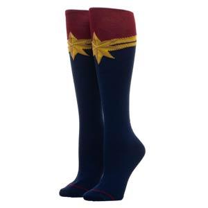 Captain Marvel Movie Suit Up Knee High Socks