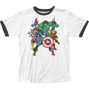 Avengers Fitted White T-Shirt Small