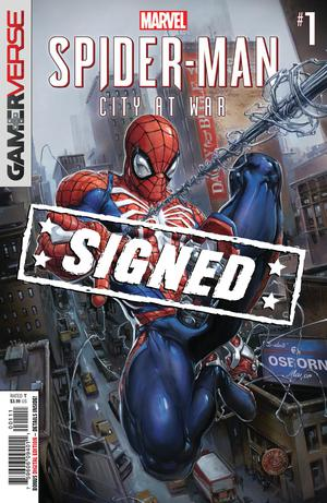 Marvels Spider-Man City At War #1 Cover G Regular Clayton Crain Cover Signed By Dennis Hopeless Hall