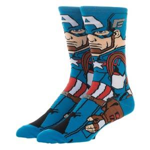 Avengers Endgame Captain America 360 Character Crew Sock