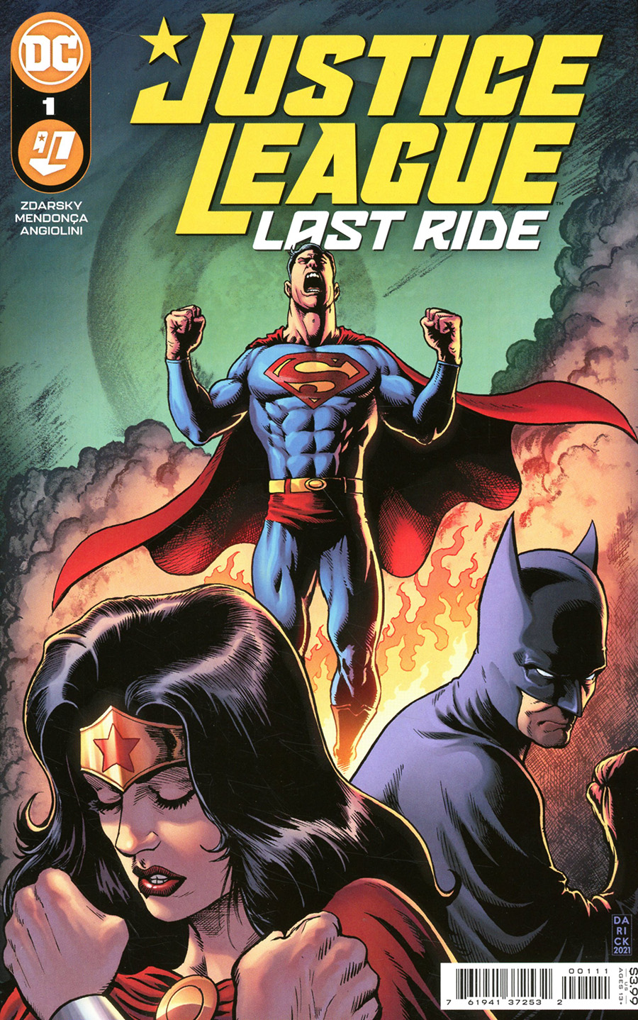 Justice League Last Ride #1 Cover A Regular Darick Robertson Cover