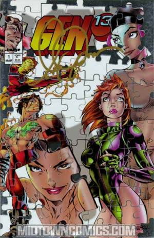 Gen 13 Vol 2 #1 Cover O Campbell Chromium Cover