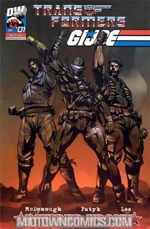 Transformers GI Joe Vol 2 #1 Cover E Incentive Michael Ryan UV Coating Cover