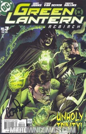 Green Lantern Rebirth #3 Cover B DF Signed By Geoff Johns