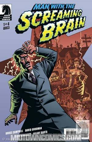 Man With The Screaming Brain #1 Cover A Rick Remender