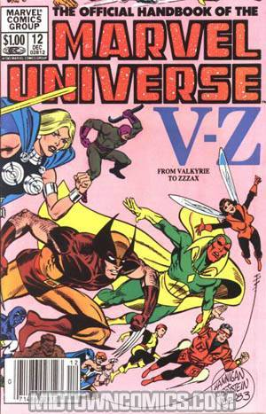 Official Handbook Of The Marvel Universe #12