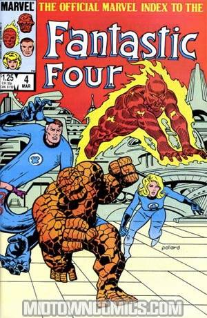 Official Marvel Index To The Fantastic Four #4