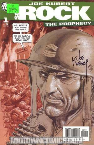 Sgt Rock The Prophecy #1 Cover D DF Signed By Joe Kubert