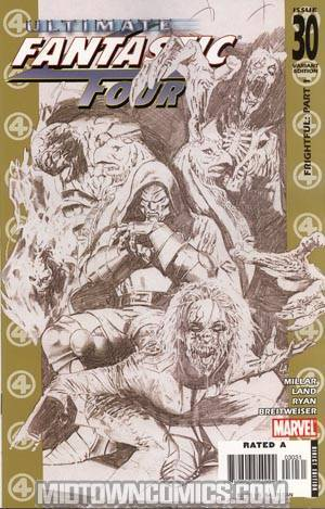 Ultimate Fantastic Four #30 Incentive Land Sketch Variant Cover