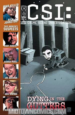 CSI Dying In The Gutters #2 Incentive Suspect Jim Mahfood Cover